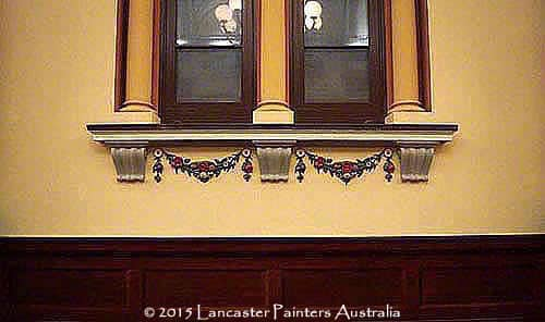 Adelaide Town Hall Reconstructed Coffers & Garlands