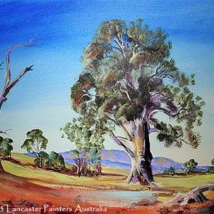Australian Billabong Gum Tree Art