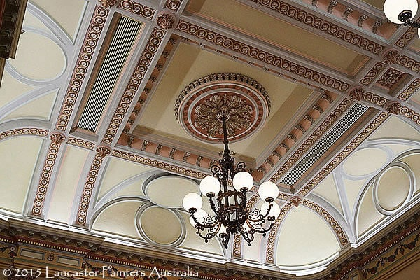 Adelaide Town Hall Heritage Decorative Ceiling Roses Cornices