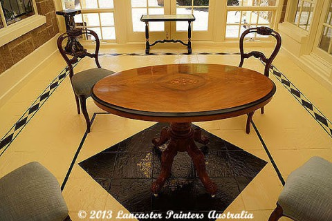 French Polished Table and Chairs