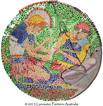 Hand Painted Heritage Mosaic
