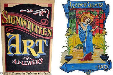 Hand Painted Heritage Signage Art