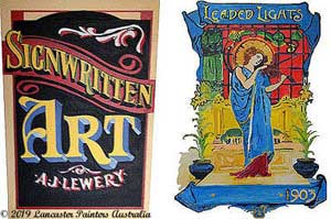 Hand Painted Heritage Signs