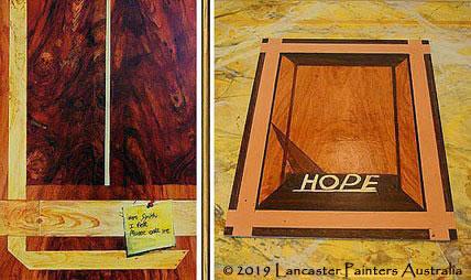 Hand Painted Wood Grain Heritage Signs
