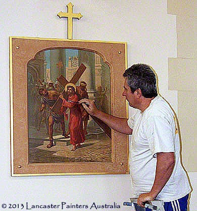 Sacred Heart Church Stations Of The Cross Conservation Work