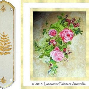 Heritage Fingerplate Reconstructed Hand Painted Roses