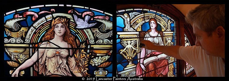 Heritage Leadlight Glass Art Conservation Cleaning Repair