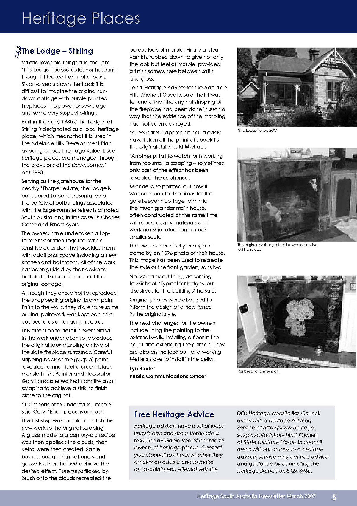Heritage SA Newsletter March 2007, Page 5