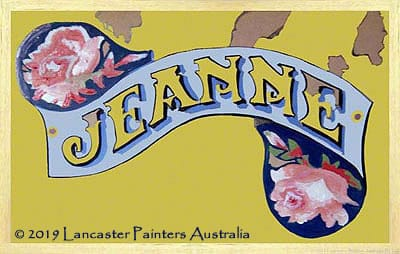 Jeanne Heritage Hand Painted Sign Writing
