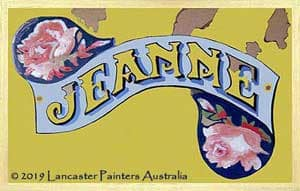Hand Painted Jeanne Heritage Sign Writing
