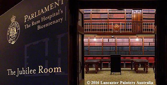 Jubilee Room - Parliament House Sydney