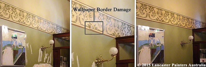 Lowy Institute Wallpaper Border Repair & Reconstruction