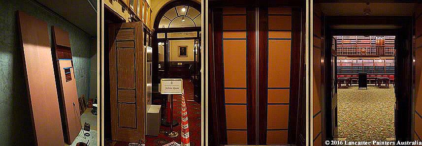 Progressive Wood Graining of Fire Doors