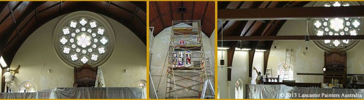 Sacred Heart Church Filling and Painting