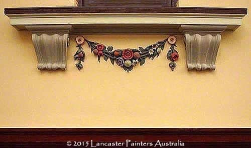 Adelaide Town Hall Coffers & Garlands Repaired & Repainted