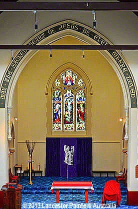 Sacred Heart Church Gilding & Signwriting