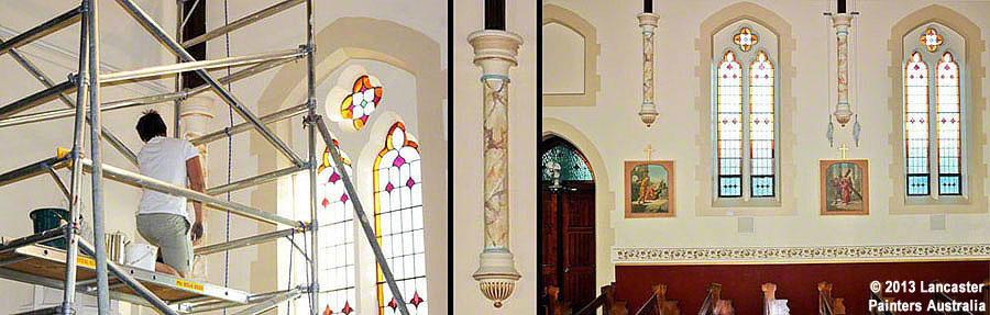 Sacred Heart Church Decorative Faux Marbling