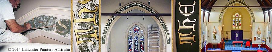Heritage Gilding Banner Signage Reconstruction