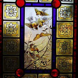 Spring Birds Heritage Leadlight