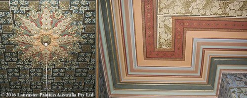 Decorative Wallpapered Ceilings & Walls