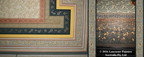 Heritage Wallpapered Ceiling & Wall