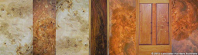 Various Painted Wood Grains